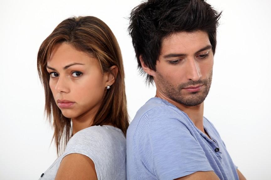 Unhappy couple - cheating boyfriend