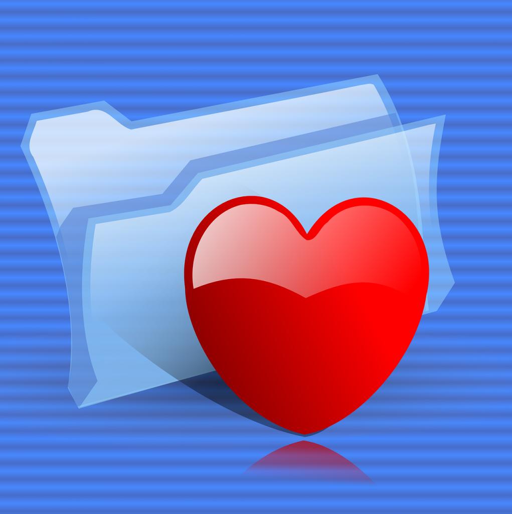 File folder with heart symbol